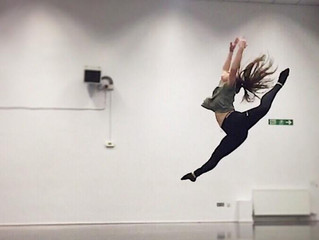 Lucie Gifford 'snapped' whilst practising this week. Dance Jump.