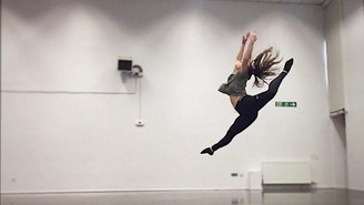 Lucie dancing at Bedfordshire University