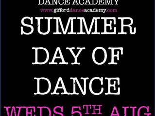 SUMMER DANCE DAY ANNOUNCEMENT