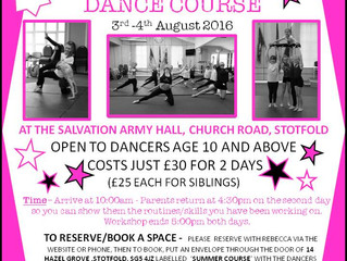 Two Day Summer Dance Course
