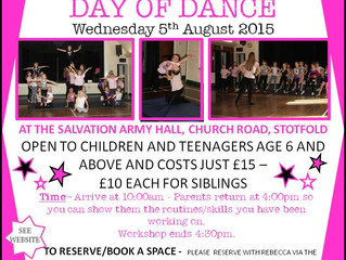 DETAILS FOR THE DAY OF DANCE