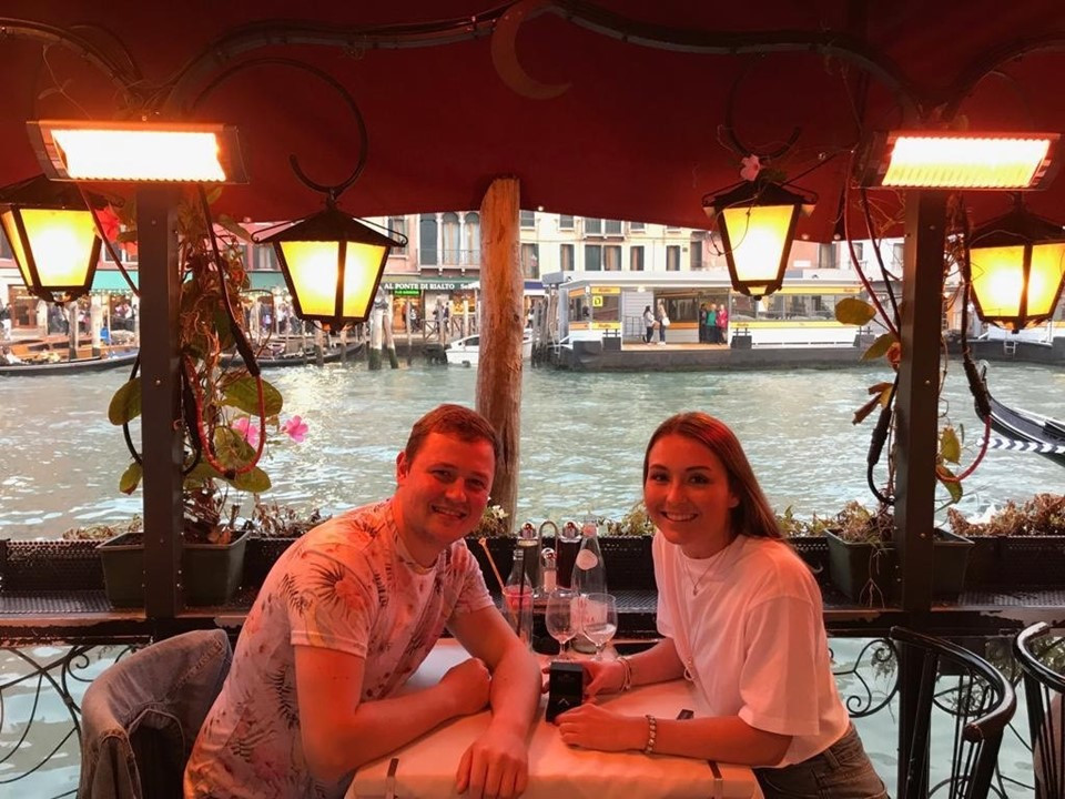 Rebecca was taken on a mystery weekend away after dance classes this Saturday by her boyfriend Adam. To her surprise she ended up in the beautiful city of Venice with a ring on her finger!!! She wasn't expecting that! We are all so excited and pleased for both of you and are looking forward to a wonderful wedding when no doubt there will be lots of dancing.