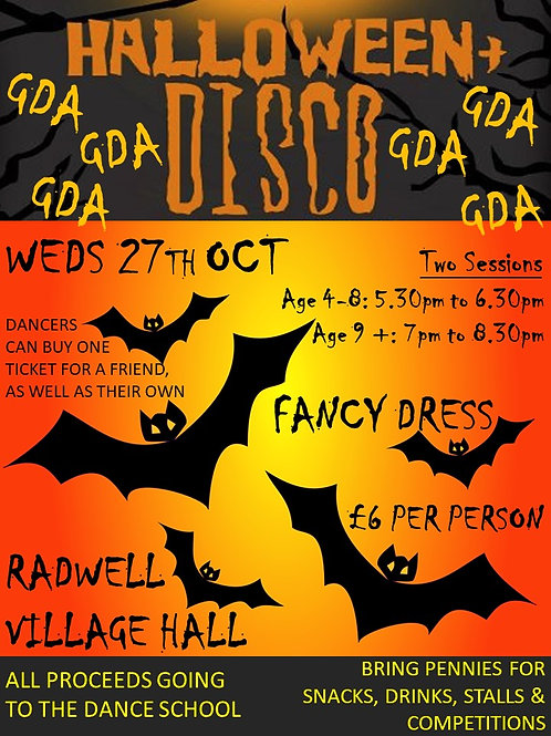 Ticket to our Halloween Disco