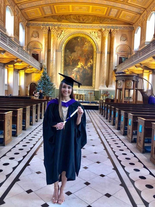Rebecca graduates from Trinity Laban