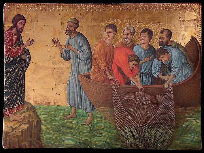 Opera tratta da Duccio di Buoninsegna, XIV secolo tempera e oro su tavola