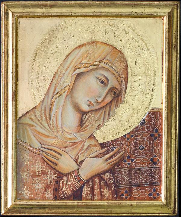 Opera ispirata ad un dipinto della Bottega di Duccio di Buoninsegna. Siena XIII secolo Tempera e oro su tavola