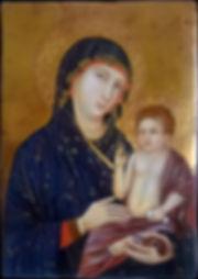 Opera ispirata ad un dipinto di Duccio di Buoninsegna. Siena XIII secolo Tempera e oro su tavola
