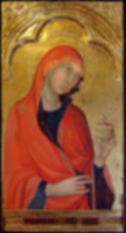 Opera ispirata ad un dipinto di Simone Martini appartenente al Polittico: Madonna col Bambino e santi Pisa XIV secolo Tempera e oro su tavola