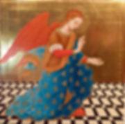 Opera ispirata a un dipinto di Federico Joni Siena XX sec. tempera e oro su tavola.
