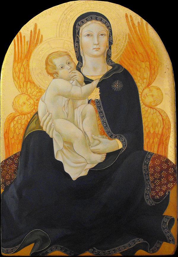 opera tratta da Sano di Pietro Siena, XV secolo tempera e oro su tavola antica