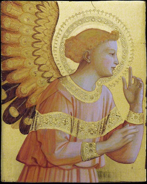 Opera ispirata ad un dipinto di Beato Angelico. XV secolo Tempera e oro su tavola