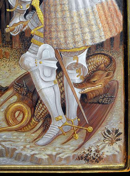 Opera tratta da: Pisanello, secolo XV tempera e oro su tavola