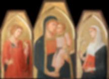 Opera ispirata a Pietro e Ambrogio Lorenzetti tempera all'uovo su tavola dorata antica