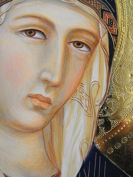 Opera ispirata a Simone Martini, Siena XIV secolo tempera all'uovo su tavola dorata antica