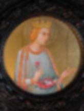 Opera originale dell'autore Tecnica: tempera e oro su tavola. Il dipinto è inserito in cornice della fine dell'800.