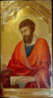 Opera ispirata ad un dipinto di Simone Martini appartenente al Polittico: Madonna con Bambino e santi Tempera e oro su tavola