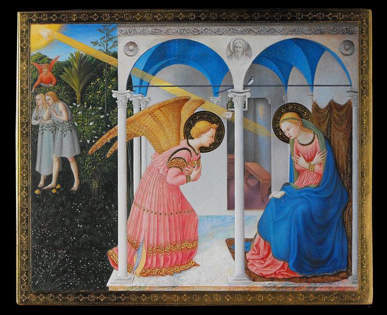 Annunciazione Opera tratta da: Beato Angelico tempera e oro su tavola