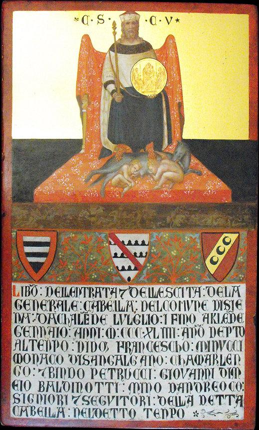 Gabella Senese. Opera tratta da Ambrogio Lorenzetti, Siena XIV secolo tempera all'uovo su tavola dorata antica