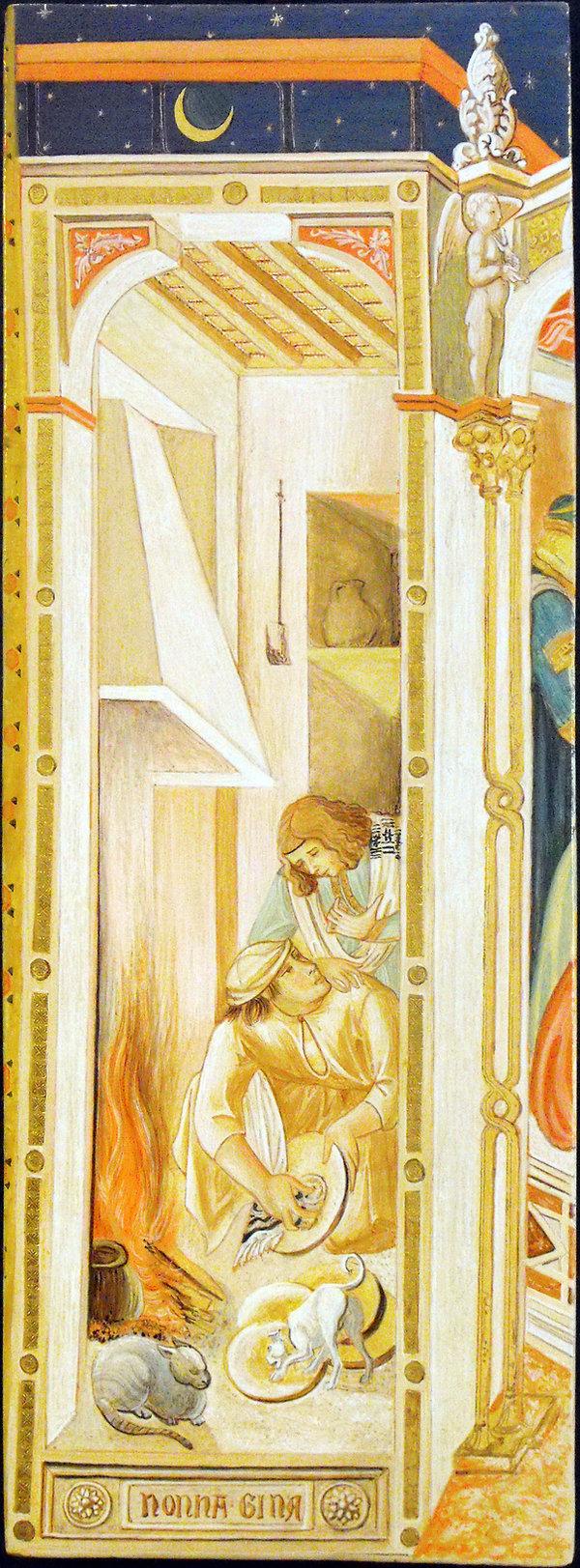 Opera ispirata ad un dipinto di Pietro Lorenzetti Assisi XIV secolo Tempera e oro su tavola