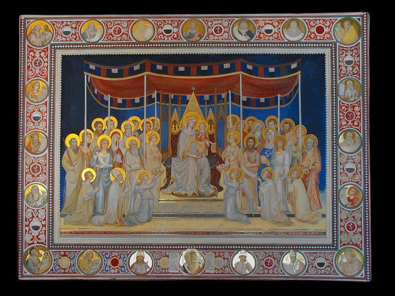 Opera tratta da Simone Martini, Palazzo pubblico Siena tempera all'uovo su tavola dorata antica
