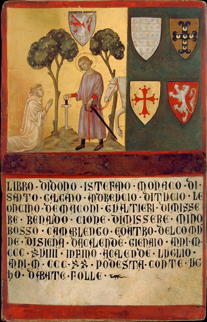 Siena 1320 tempera e oro su tavola antica