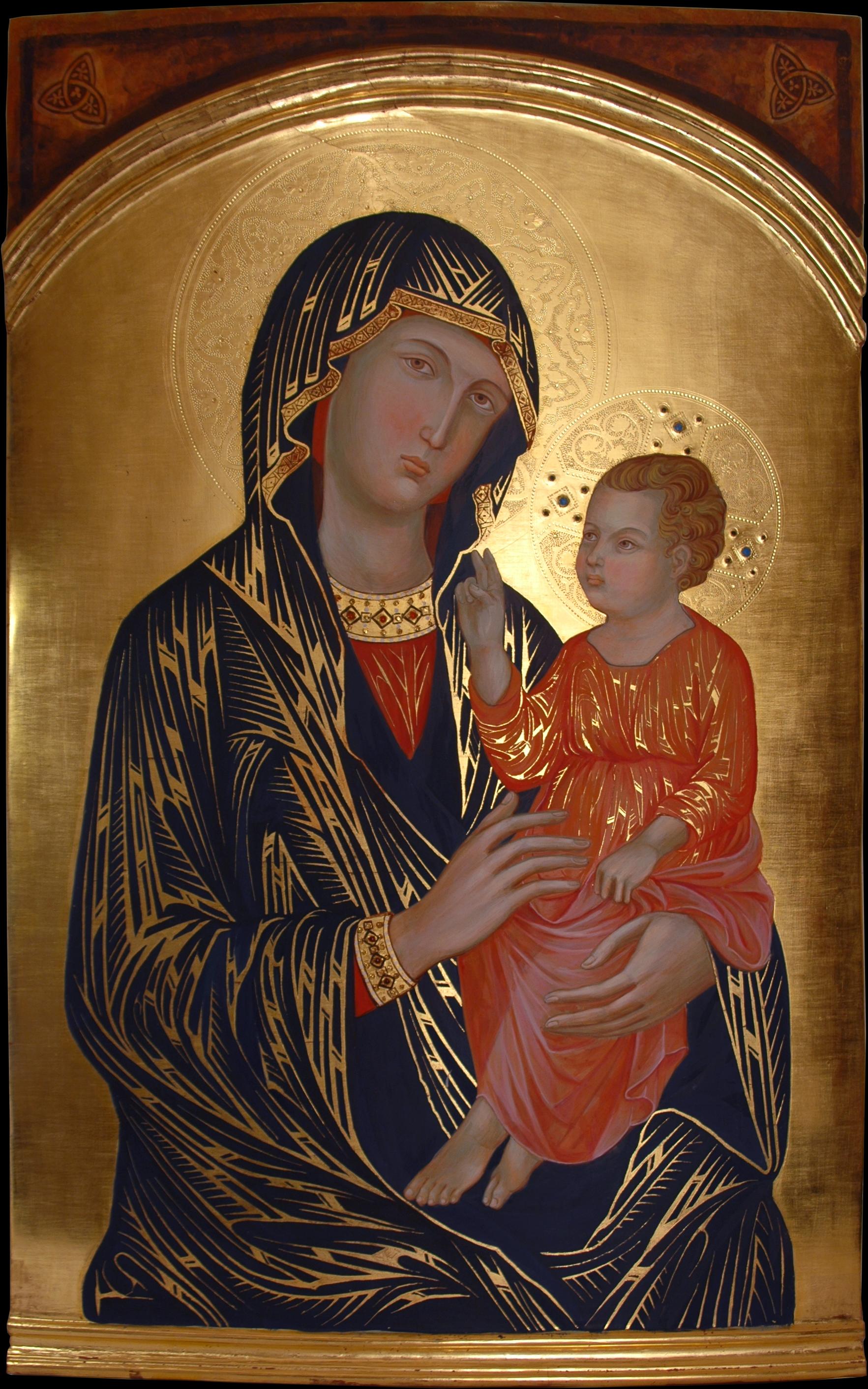Madonna Con Bambino Abadia Isola