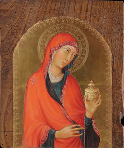 Maria Maddalena, Simone Martini, rinascimento, tempera all'uovo, oro, tavola antica