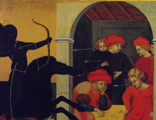 Biccherna senese, Opera tratta da Giovanni Di Paolo, Siena, XV sec. tempera e oro su tavola antica