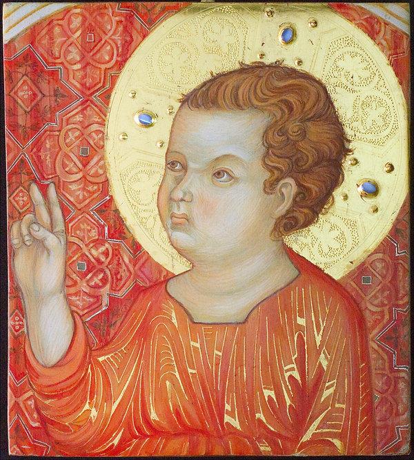 """Opera ispirata ad un dipinto del """"Maestro di Badia Isola"""" Siena XIII / XIV secolo Tempera e oro su tavola"""
