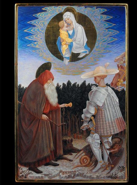Opera tratta da: Pisanello, secolo XV tempera e oro su tavola.