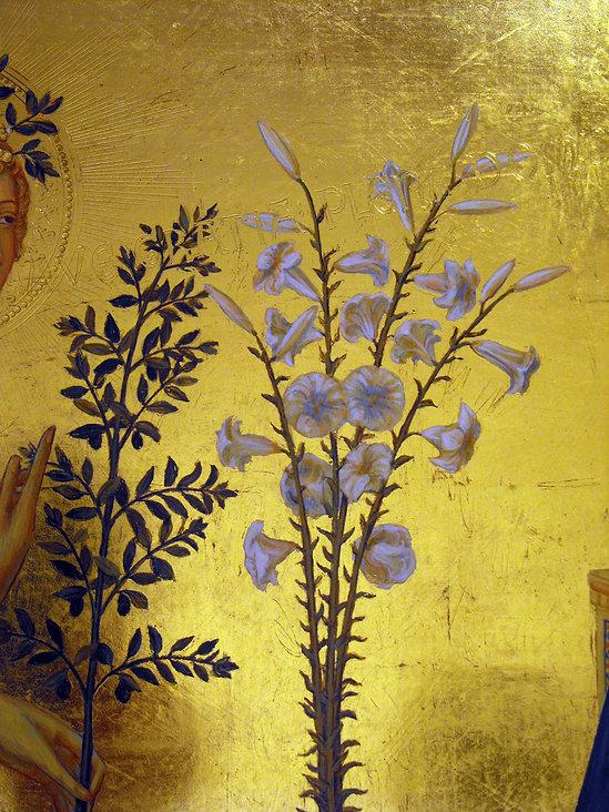 Opera ispirata a Simone Martini, Siena, XIV secolo Galleria degli Uffizi di Firenze tempera all'uovo su tavola dorata antica
