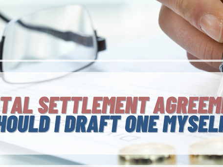 What Is A Marital Settlement Agreement And Should I Try To Draft One Myself?