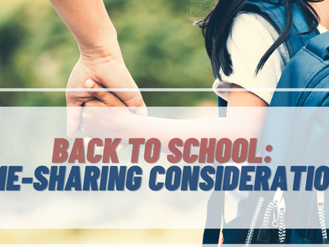 Back To School: Time-Sharing Considerations
