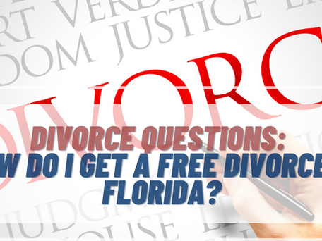 How Do I Fill Out Free Divorce Papers?