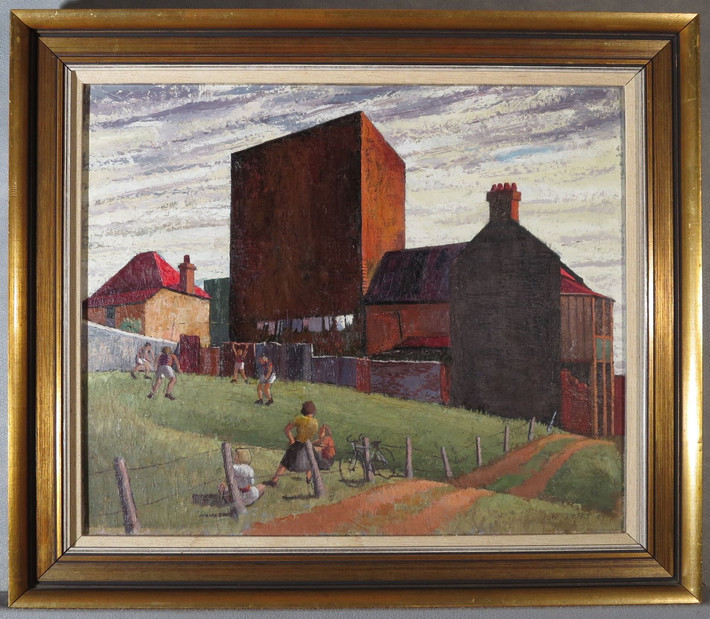 Treatment of 'Vacant Allotment Woolloomooloo' by Jeffrey Smart (1947)