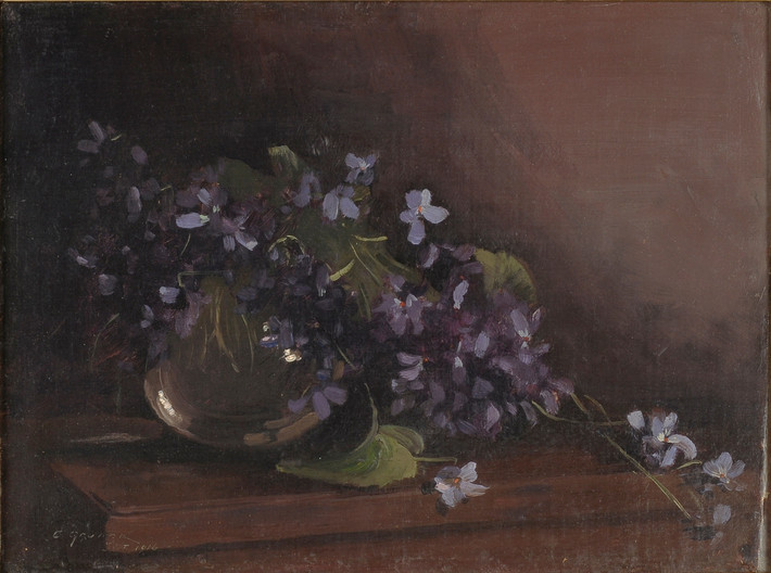 Treatment of 'Violets' by Elioth Gruner