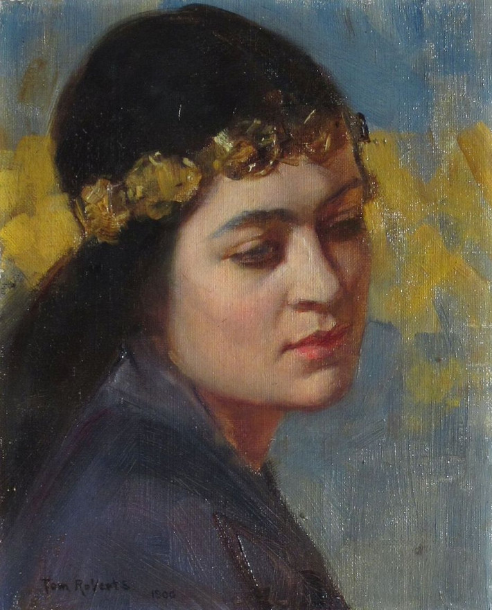 """Conservation treatment of 'Rose of Persia"""" by Tom Roberts"""
