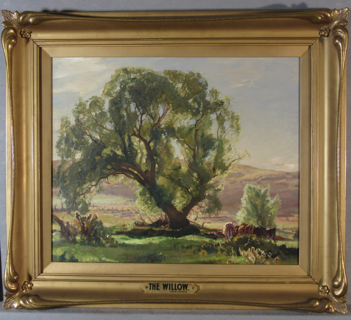Treatment of 'The Willow' by Hans Heysen