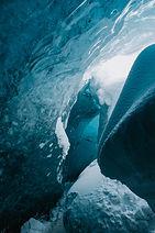 Ice caving in VATNAJÖKULL Glacier, Iceland