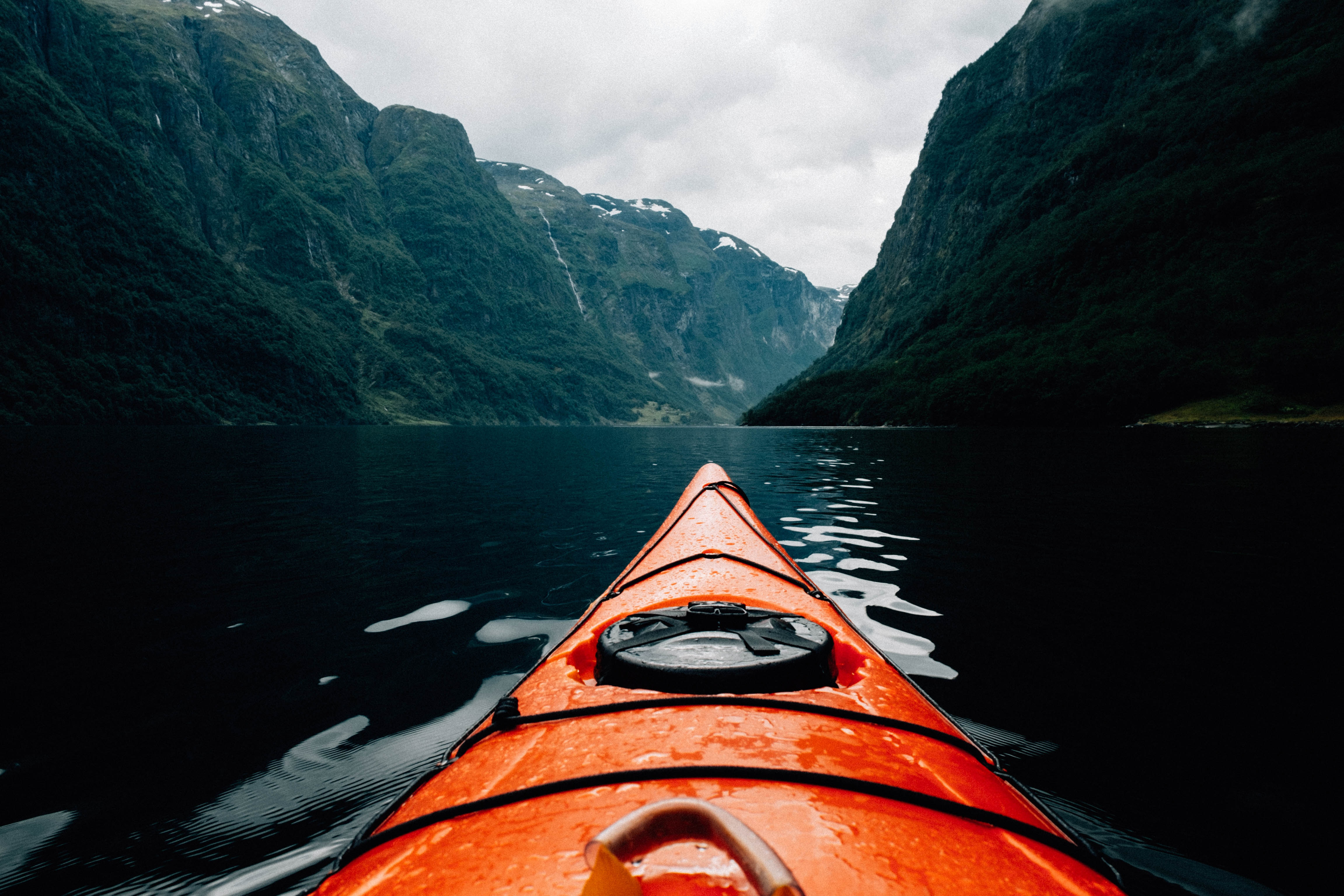 Kayaking experience in the fjords