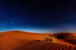 Sahara desert at night time, Marocco