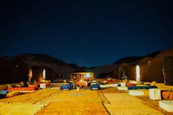 luxury stargazing camp in the desert