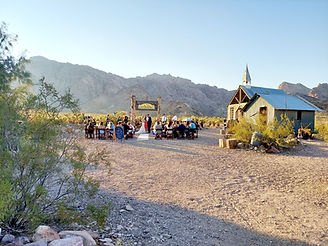 Intimate desert wedding at Eldorado Canyon Ghost Town, Siello Weddings and Events + Cactus Collective Weddings