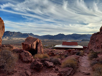 Wedding view at Valley of Fire State Park in Nevada, Siello Weddings and Events + Cactus Collective Weddings