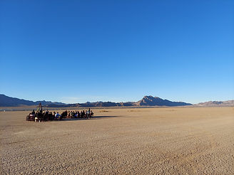 Wedding ceremony at the dry lake bed outside Las Vegas, Siello Weddings and Events + Cactus Collective Weddings