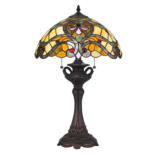 Gold Tiffany Table Lamp