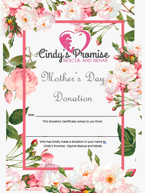 Mother's Day Donation Certificate