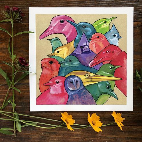 Rainbow of Birds | Art Print