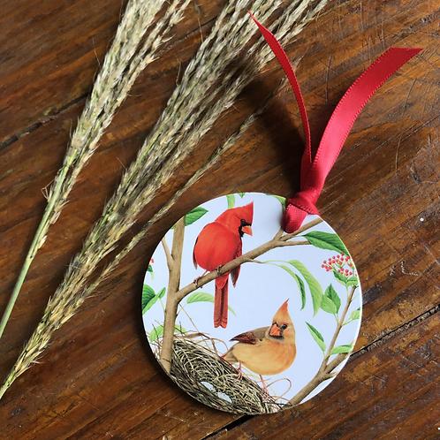 Cardinal Couple Gift Tag Set