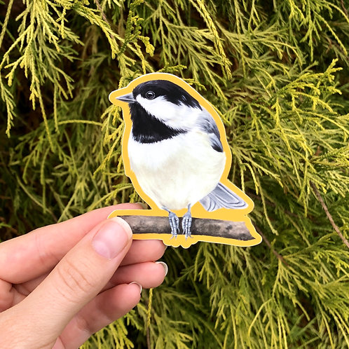 Yellow Chickadee Sticker